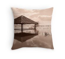 Cambodian Hut Throw Pillow
