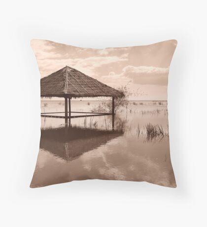 Cambodian Hut Throw Pillow