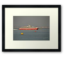 Red Jet 4 approaching Cowes Framed Print