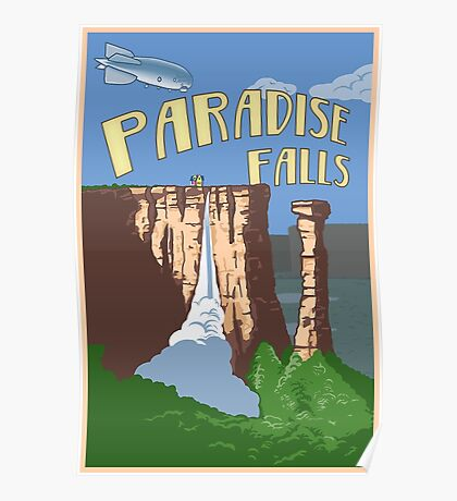 Paradise Falls Travel Poster Poster