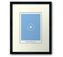 Dr. Manhattan Stillness Framed Print