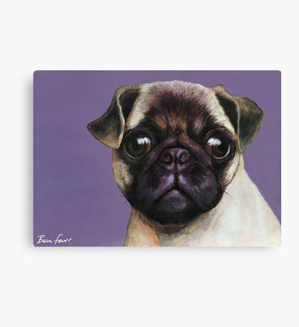 Pug Painting Canvas Print