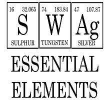 Swag Periodic Table (black) by raineOn