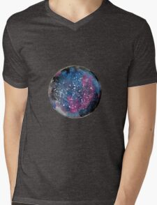 Galaxy Mens V-Neck T-Shirt