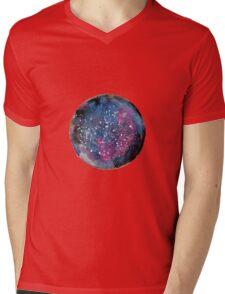 Galaxy Mens V-Neck T-Shirt