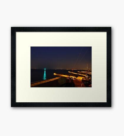 Royal Yacht Squadron at Night Framed Print