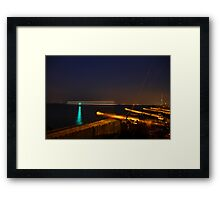 Red Jet 4 passing Cowes at Night Framed Print