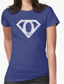 O letter in Superman style Womens Fitted T-Shirt