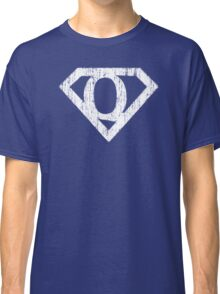 Q letter in Superman style Classic T-Shirt