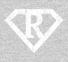 R letter in Superman style One Piece - Long Sleeve
