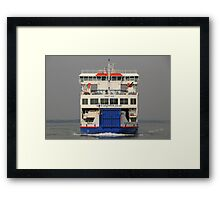 Wight Sun approaching Yarmouth Framed Print