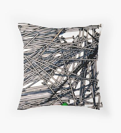 Pins sans needles Throw Pillow