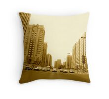 Abu Dhabi main street  Throw Pillow