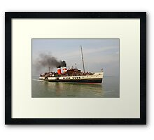 PS Waverley approaching Yarmouth Pier Framed Print