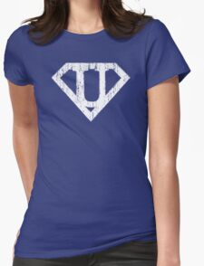 U letter in Superman style Womens Fitted T-Shirt