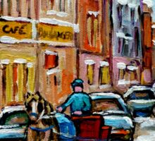PAINTINGS OF OLD PORT MONTREAL CANADIAN ART BY CANADIAN ARTIST CAROLE SPANDAU Sticker