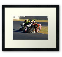Towing the Line - Superbikes Framed Print