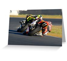 Towing the Line - Superbikes Greeting Card