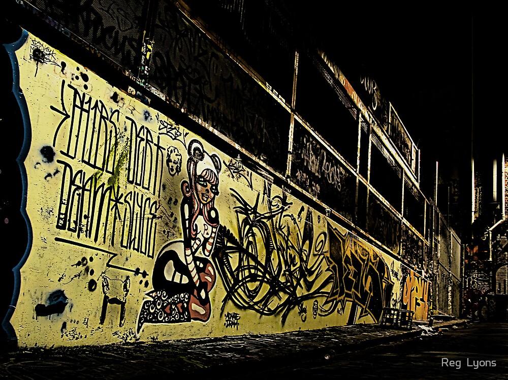 Graffiti Girl by Reg  Lyons