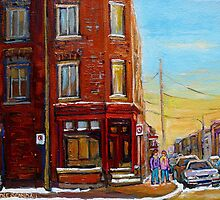 CANADIAN ARCHITECTURE MONTREAL CITY SCENES PAINTINGS BY CANADIAN ARTIST CAROLE SPANDAU by Carole  Spandau