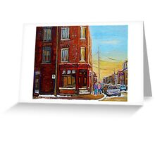 CANADIAN ARCHITECTURE MONTREAL CITY SCENES PAINTINGS BY CANADIAN ARTIST CAROLE SPANDAU Greeting Card