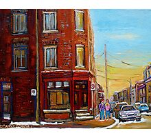 CANADIAN ARCHITECTURE MONTREAL CITY SCENES PAINTINGS BY CANADIAN ARTIST CAROLE SPANDAU Photographic Print