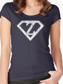 Z letter in Superman style Women's Fitted Scoop T-Shirt