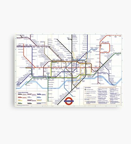 "London Underground ""tube map"" Canvas Print"