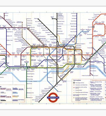 """London Underground """"tube map"""" Sticker"""