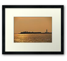 Hurst Castle Sunset Framed Print