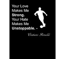 Cristiano Ronaldo Quote Photographic Print