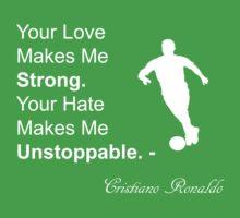 Cristiano Ronaldo Quote One Piece - Short Sleeve