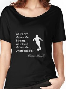 Cristiano Ronaldo Quote Women's Relaxed Fit T-Shirt