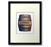 Rustic American Whiskey Barrel Framed Print