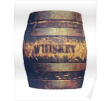Rustic American Whiskey Barrel Poster