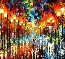A Date With The Rain — Buy Now Link - www.etsy.com/listing/184984113 by Leonid  Afremov