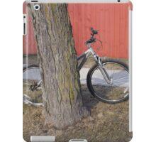 Bike and Red Fence iPad Case/Skin