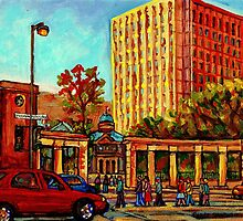 PAINTINGS OF MCGILL UNIVERSITY CANADIAN CITY SCENES BY CANADIAN ARTIST CAROLE SPANDAU by Carole  Spandau