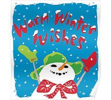 Snowboy's warm winter wishes Poster
