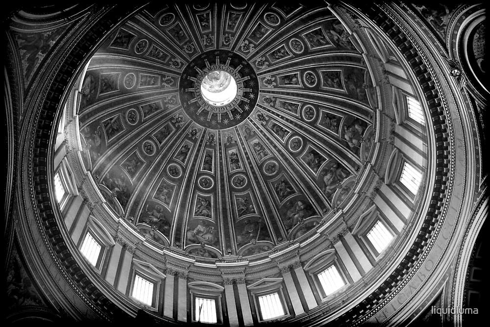 St. Peter's Dome, Rome by liquidluma