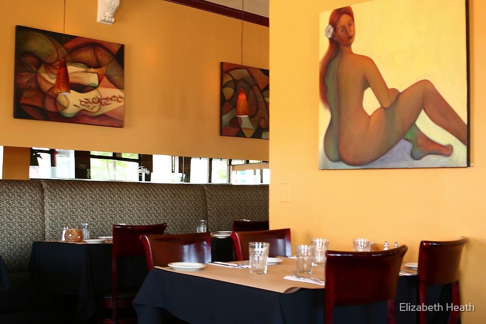 Restaurant art, Little Italy, San Diego by Elizabeth Heath