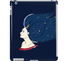 Blue-haired girl-night iPad Case/Skin
