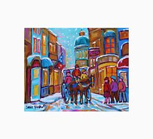 OLD MONTREAL WINTER CITY SCENES CANADIAN ARTIST CAROLE SPANDAU Unisex T-Shirt