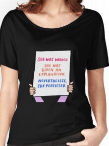 she was warnerd , neverthless  Women's Relaxed Fit T-Shirt