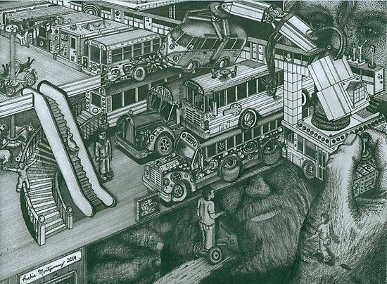 Hippie Bus Apartments by Richie Montgomery