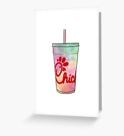 Chick-Fil-A Watercolor Greeting Card