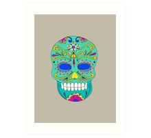 Sugar skull mexican folk art Art Print