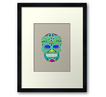 Sugar skull mexican folk art Framed Print