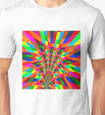 Modern Colorful abstract Pattern colors blue red Unisex T-Shirt