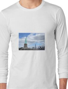 Statue of Liberty and the World Trade Center Long Sleeve T-Shirt